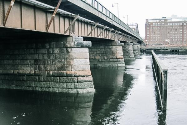 Provide repairs and replacement recommendations for the deteriorating North Washington Bridge over the Charles River