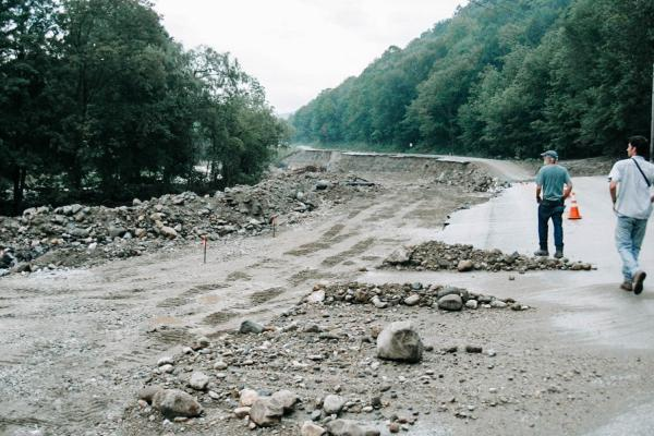 Vermont's transportation system was damaged caused by flooding in 2011