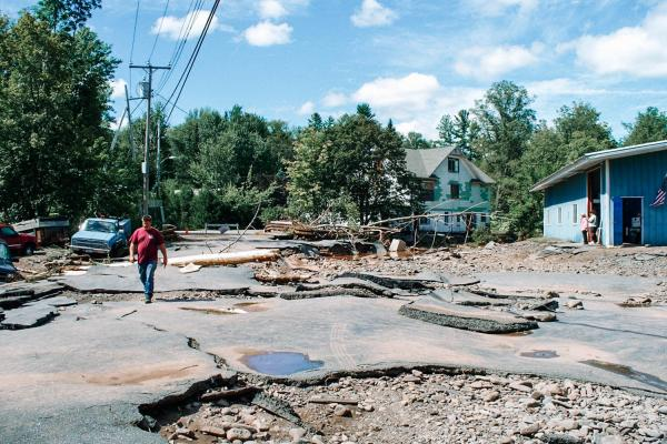Hurricane Irene hit the Catskills Region of New York State causing widespread flooding and flood-related damages.