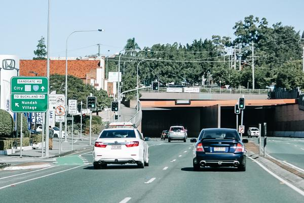 Cars driving through Nundah Tunnel