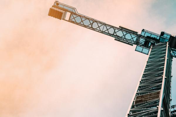 abstract shot of a crane on construction site