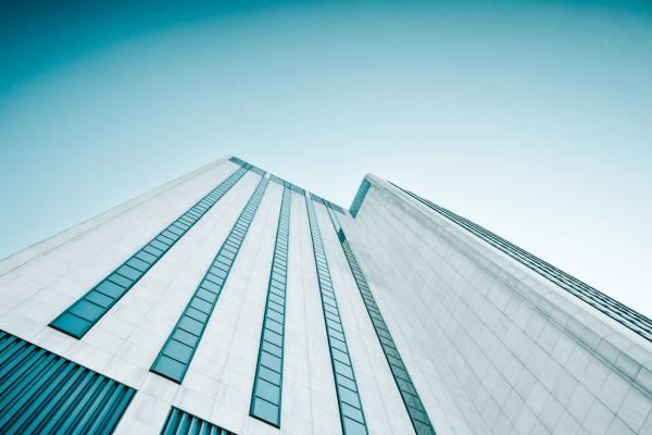 Abstract shot of high rise building
