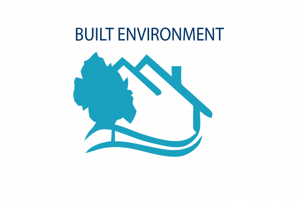 Graphic image showing built environment icon