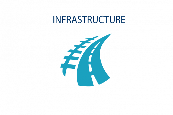 Graphic image showing Infrastructure icon
