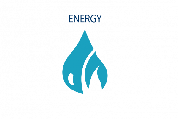 Graphic image showing energy icon