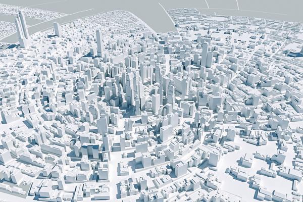 3D model of city