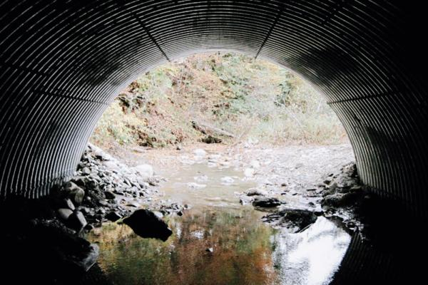 An example of a culvert