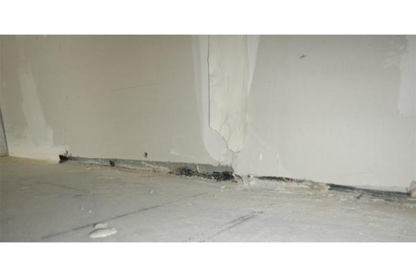 Common examples of poorly applied acoustic caulking illustrating