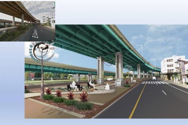 Before and after picture of Interstate 91 project in Springfield MA