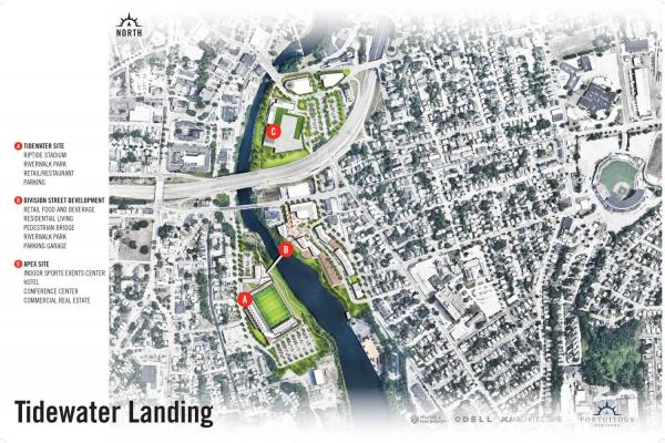 Map of Tidewater Landing