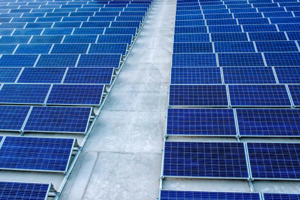 Abstract shot of solar panels