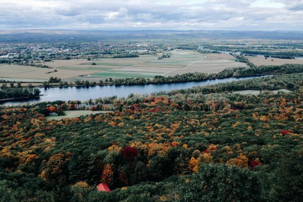 Hilltop view across Holyoke Massachusetts