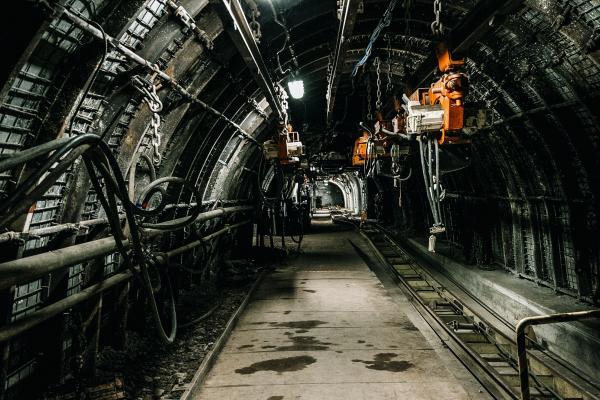 Inside a mine