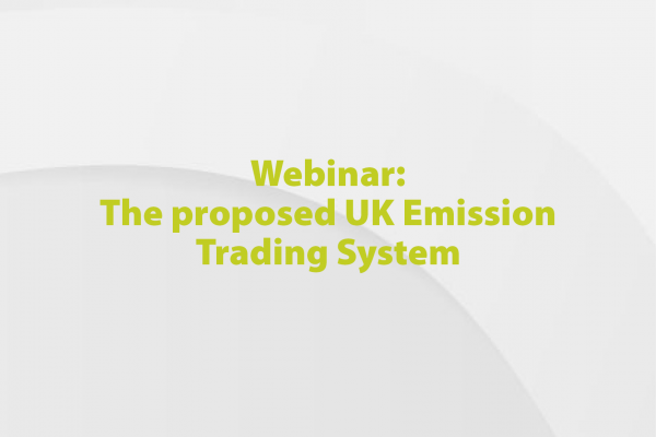 FDF Webinar: The Proposed UK Emission Trading System