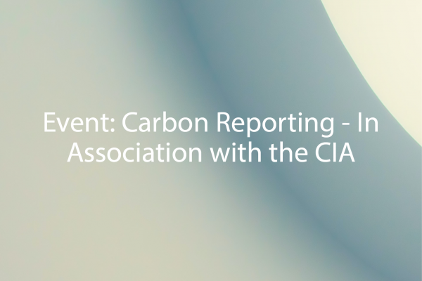 Carbon Reporting - In Association with the CIA