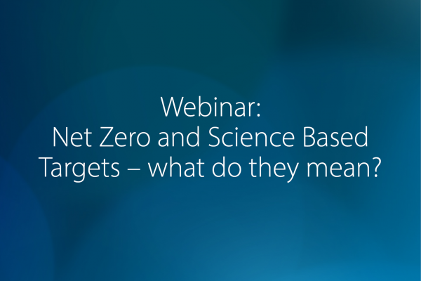 FDF Webinar: Net Zero and Science Based Targets – what do they mean?