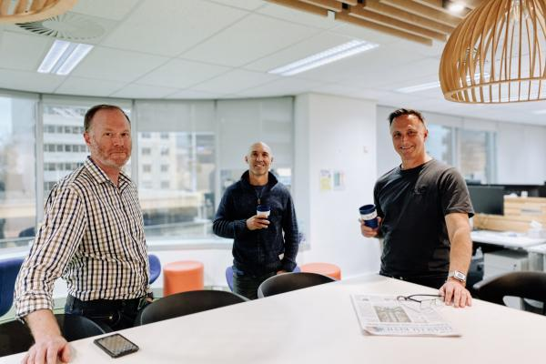 From left to right (Shane Healey – Asia Pacific Regional Sector Leader, Built Environment, Benjamin Young, Paul Gardiner – Asia Pacific Regional Manager)