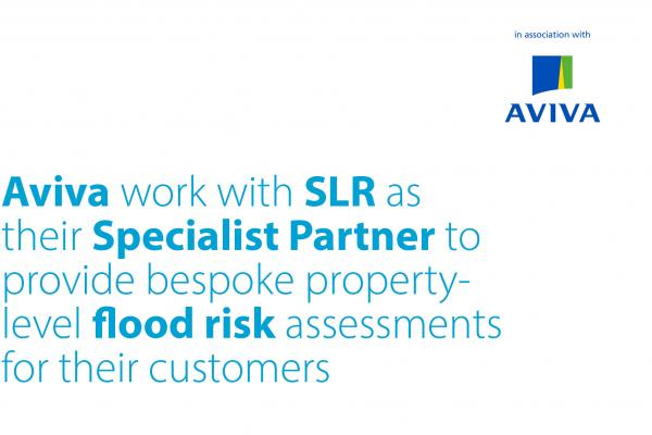 Aviva work with SLR as their Specialist Partner to provide bespoke property-level flood risk assessments for thier customers.