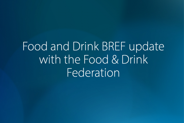 Webinar: Food and Drink BREF update - Jan 2021