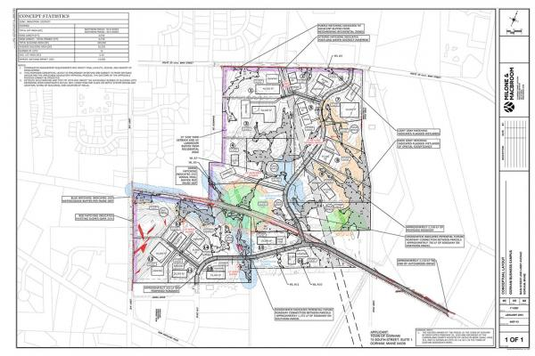 Industrial park conceptual plan for the town of Gorham
