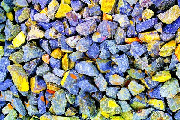colourful rocks