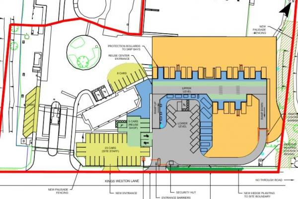 Avonmouth HWRC plan layout as showing from above