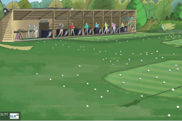 SLR artist impression of Stoneham golf club driving range