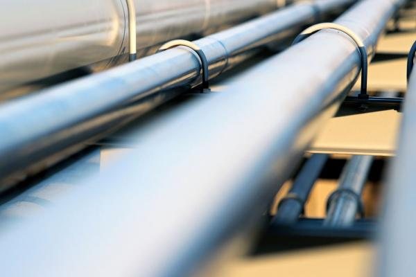 close up, out of focus, shot of industrial pipes