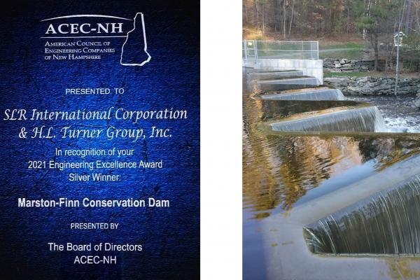 The ACEC-NH award to SLR & H.L. Turner Group, Inc.