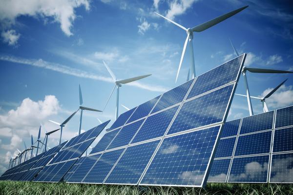 Proposed Solar Farm Rendering