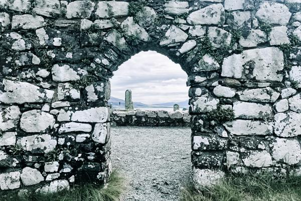 stone archway in the Scottish Highlands