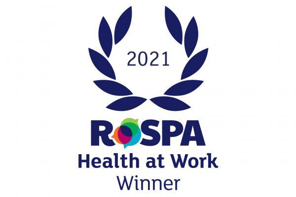 RoSPA health at work award logo