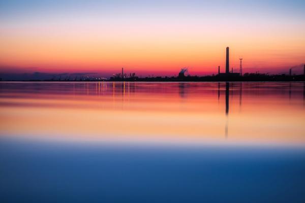 industrial site across water