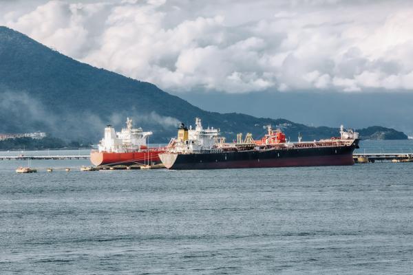 Oil tankers at port