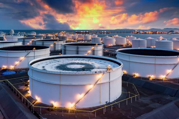 oil storage tank terminal