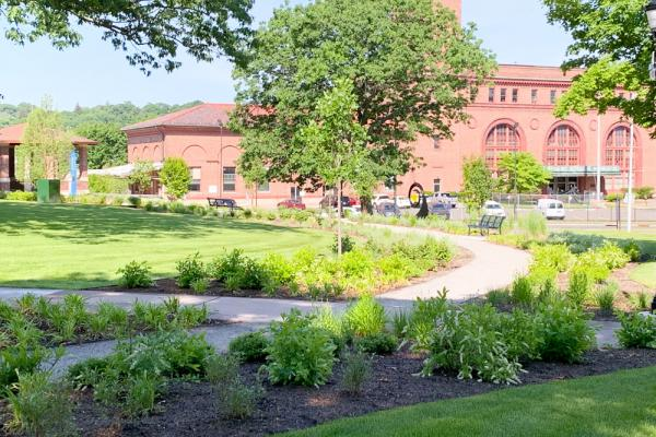 additional view of the renovated Library Park in Waterbury, Connecticut