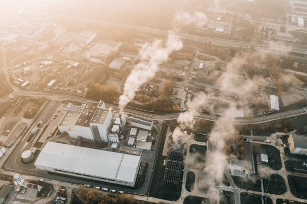 industrial plant emissions