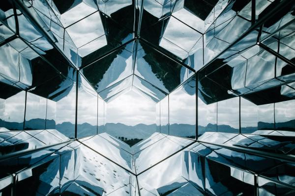 mirrored tunnel landscape