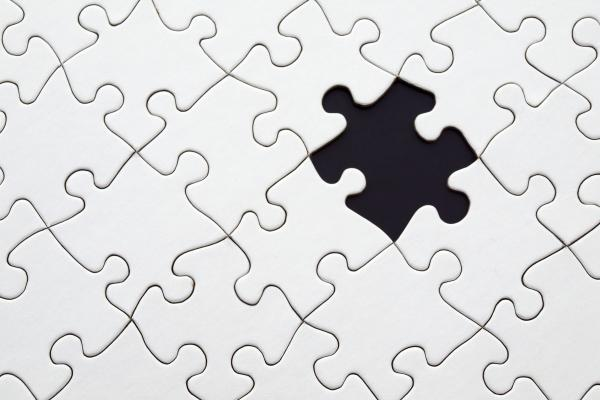 jigsaw with one missing piece