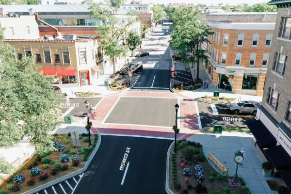 East Elm St and Greenwich Ave intersection improvement