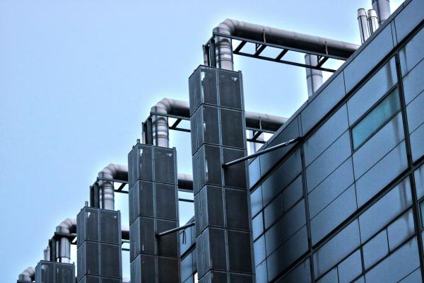 close up of industrial building