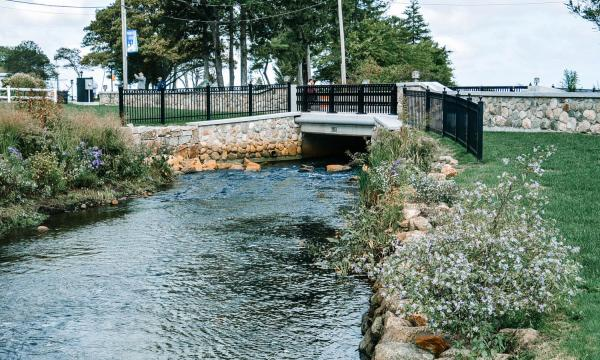 Completed restoration of Town Brook